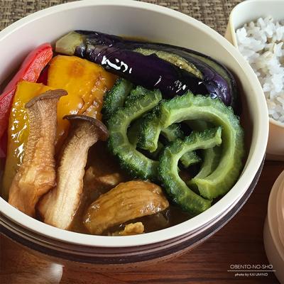 夏野菜のポークカレー弁当02
