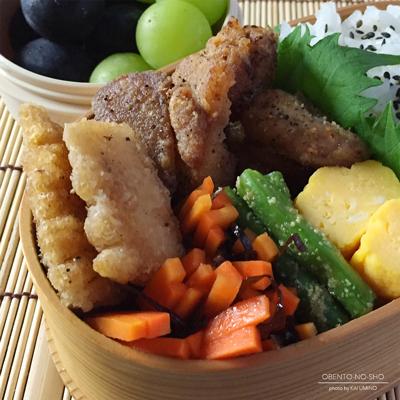 鶏と竹の子の黒胡椒揚げ弁当02