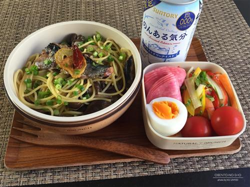 秋刀魚塩焼き缶パスタ弁当01
