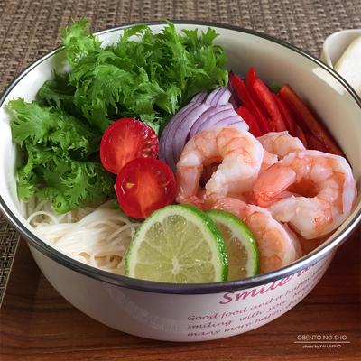 エスニック海老サラダ素麺弁当02