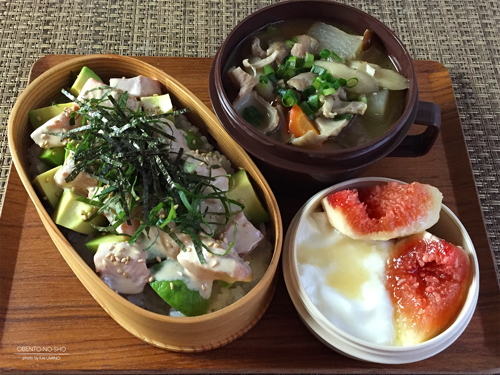 アボカドサーモン丼弁当01