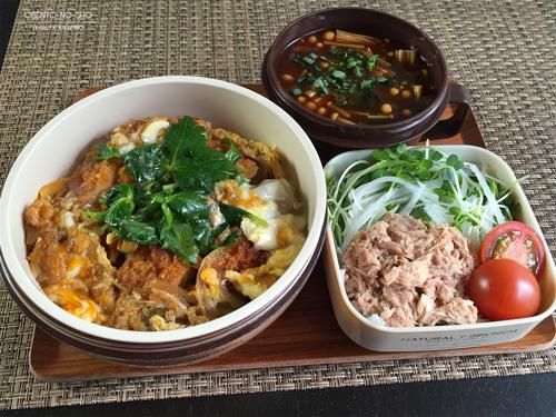 しば漬けご飯のカツ丼弁当01