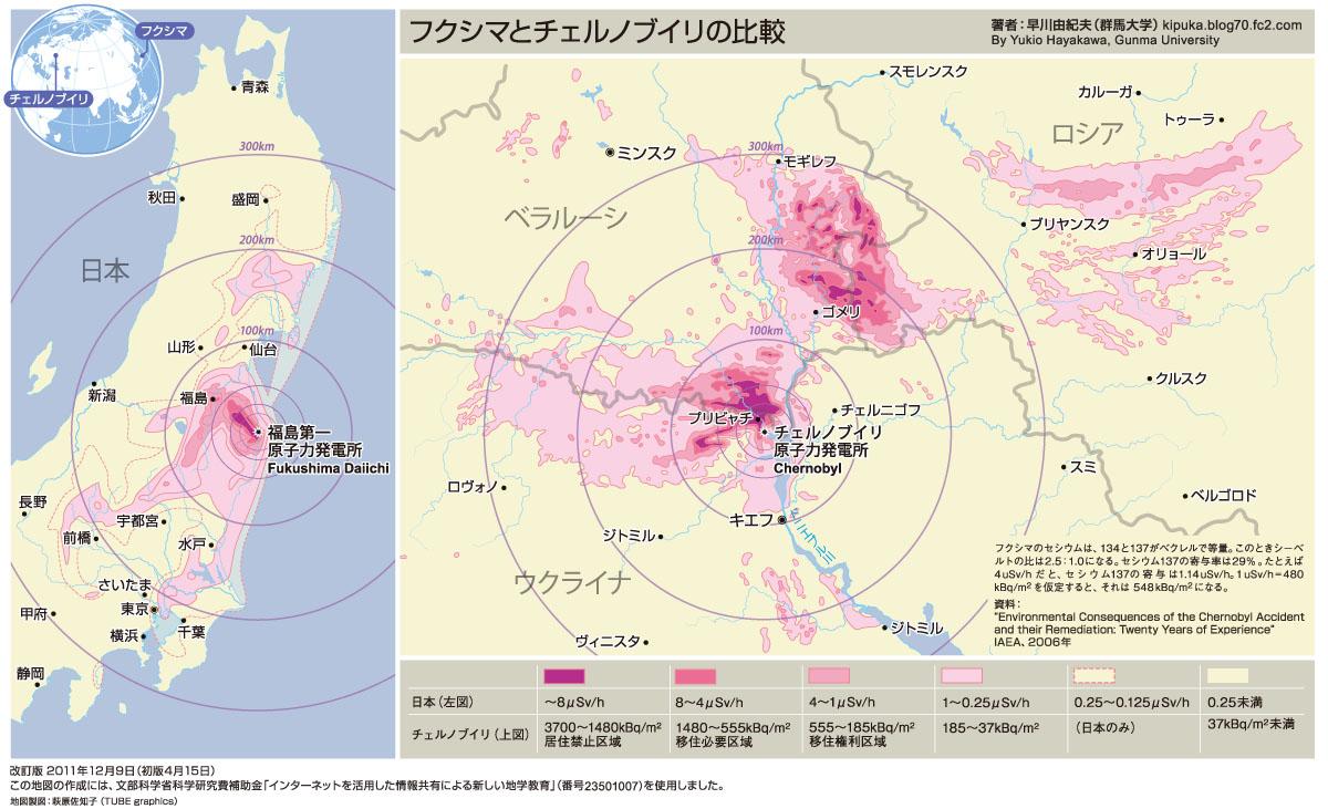 客観的に見るとチェルノブイリと福島ってどのくらい違うの?