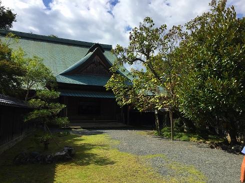 江川邸前庭