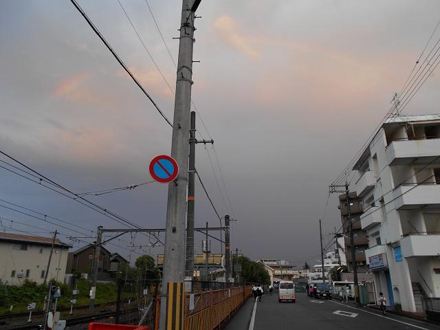 00 桃山駅と虹