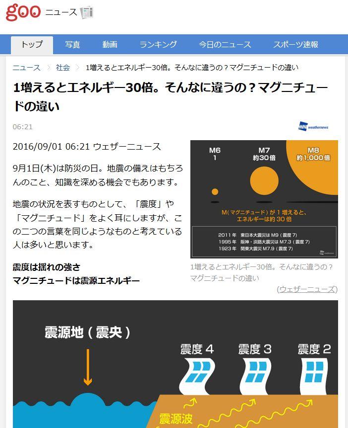 東日本大震災「M9.0」とイタリアの地震「M6.2」では、地震の規模は「3万2000倍」も異なる!