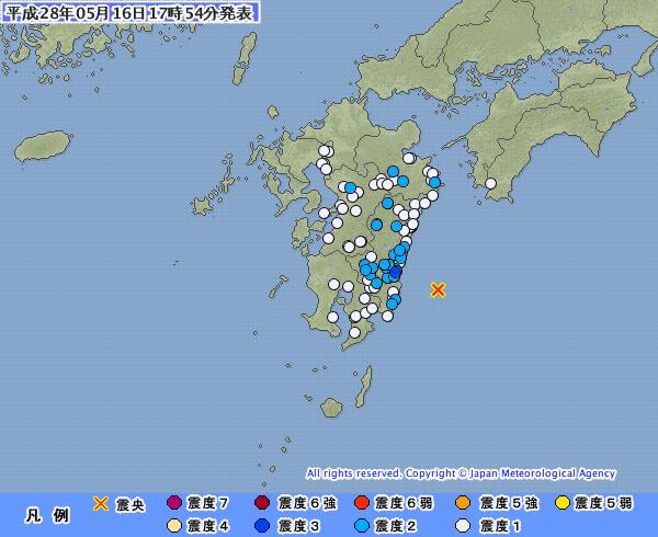 九州地方で最大震度3の地震 M4.7 震源地は日向灘 深さ約20km
