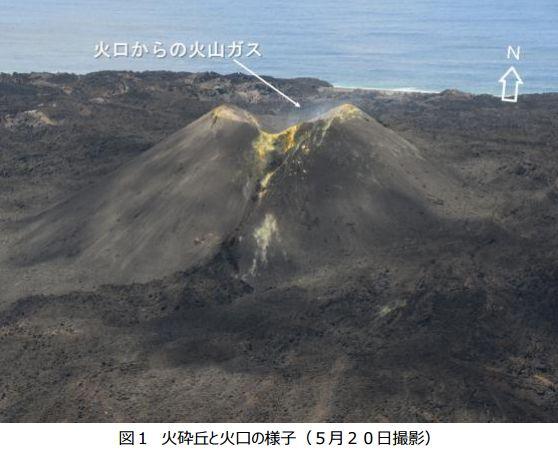 【海底火山】西之島の噴火から2年半が経過…海鳥の巣や卵を温めている姿も確認