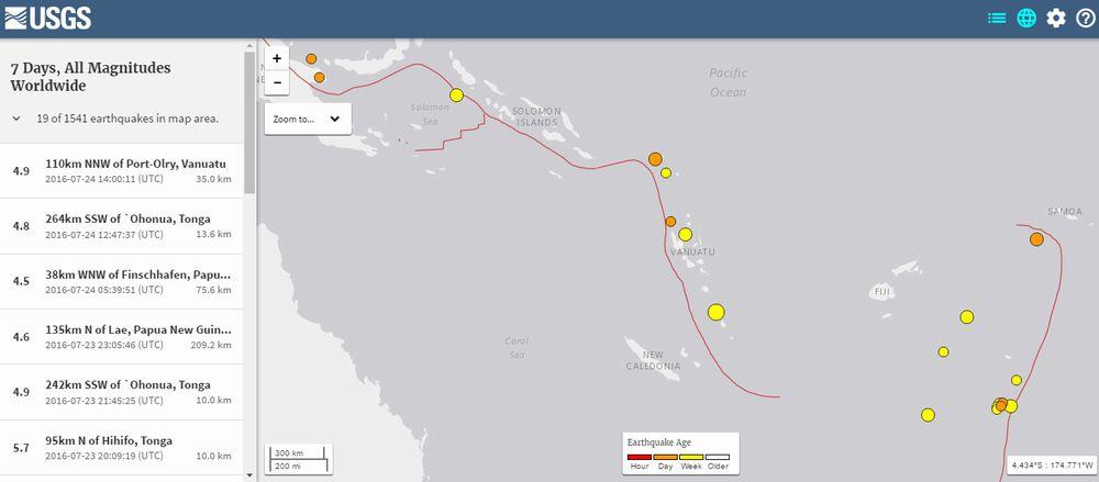 【バヌアツの法則】 バヌアツで21日に「M6.0」 24日には「M4.9」の地震が発生