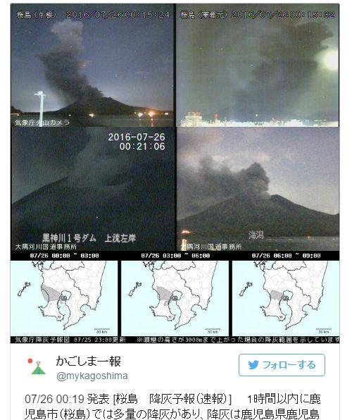 桜島・昭和火口で噴火…3年ぶり「5000メートル」の噴煙を上げる!