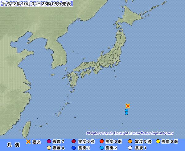 父島近海でM5.5の地震 小笠原で震度2 震源深さは約20km