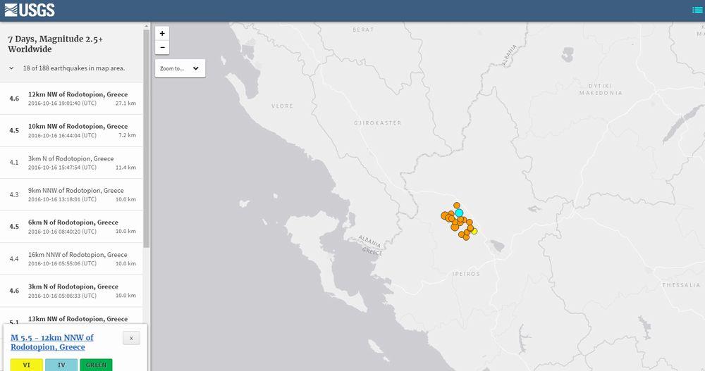 【群発地震】今月15日頃からギリシャで「M4~5」クラスの地震が17回も発生!最大マグニチュードは「5.5」