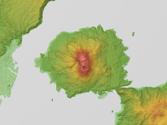 Sakurajima_Relief_Map,_SRTM-1