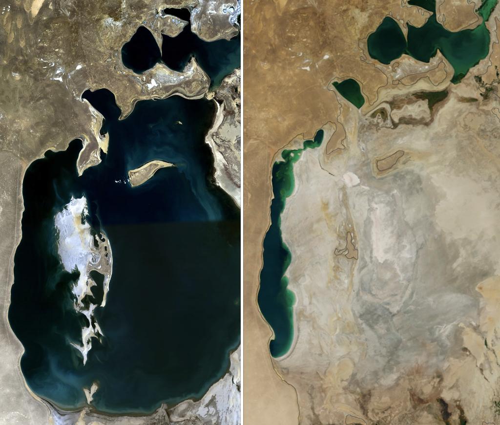 「アラル海」が消滅の危機、環境破壊による汚染が進む…NASA「まさに壊滅的」