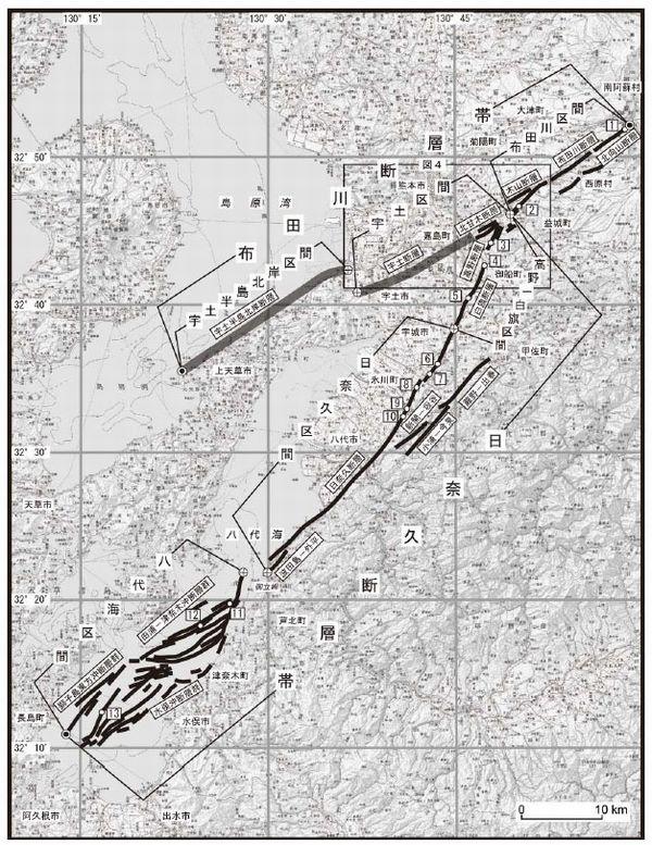 【熊本大地震】 教授「布田川・日奈久断層帯の一部がずれ動いた地震か」…断層が連動し、同時に全体が活動すれば「M8.2」が発生する可能性
