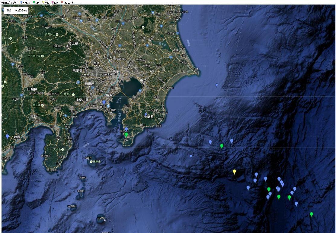 関東東方沖での群発地震は前触れなのか…地震が起きやすいとされた「新月」次は「2016年10月1日 09時11分」