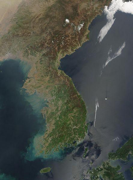 【地殻変動】先日起きた韓国での地震により「朝鮮半島」が動いた…地殻が1.6cm上昇し、東に1.4cm、南に1.0cm移動