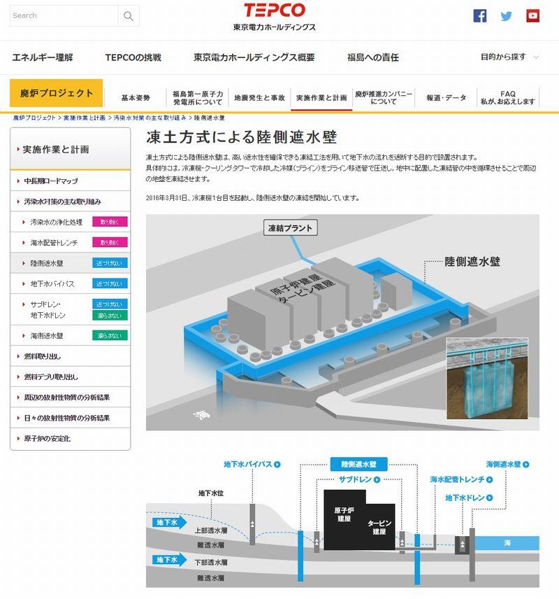 【台風10号】福島原発の凍土壁が溶ける事態に → 「台風で大雨のせい」