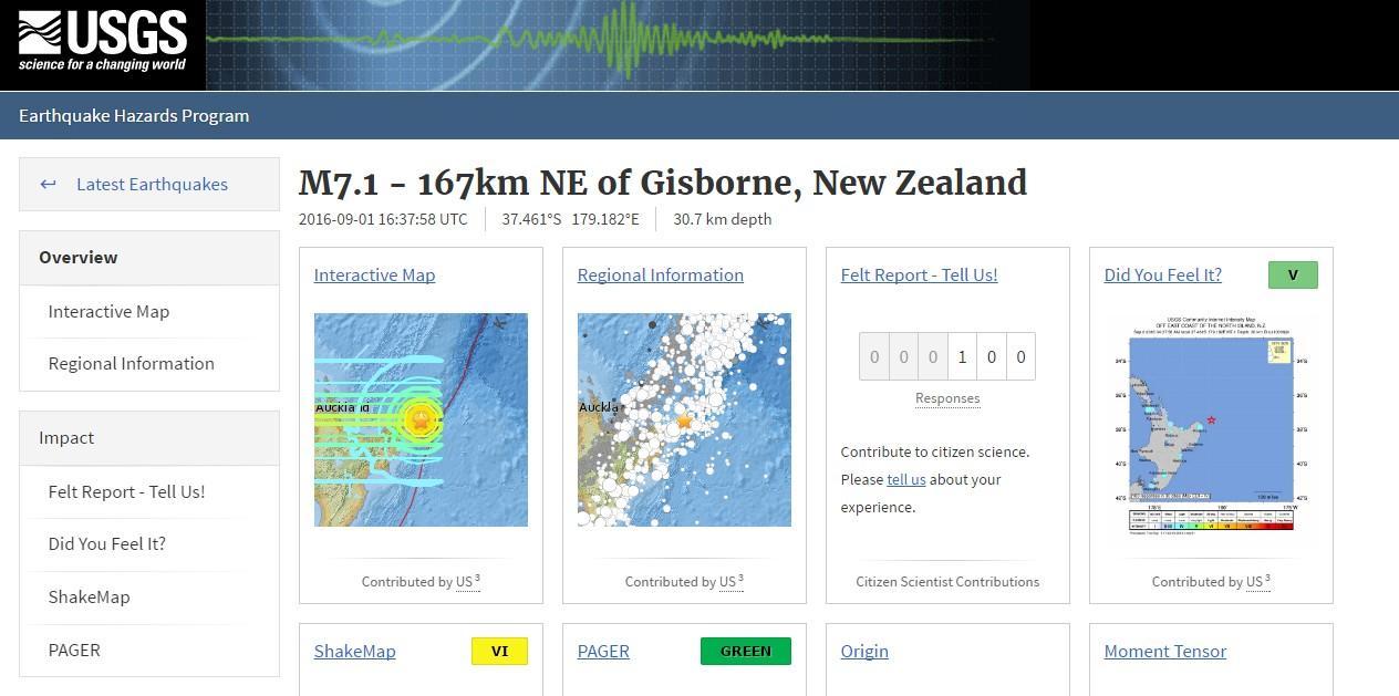 ニュージーランド沖で「M7.1」の地震が発生