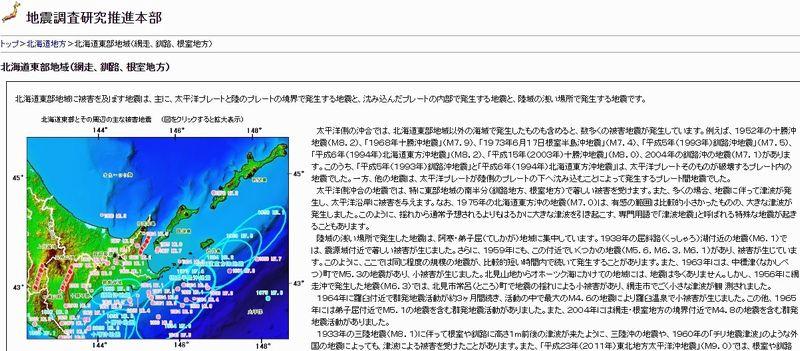 【太平洋プレート】北海道で地震が相次ぐ…根室と浦河で地震発生