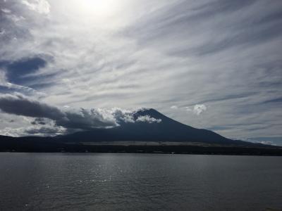 山中湖より富士山を望む