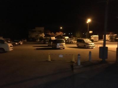 道の駅蔦木宿の夜