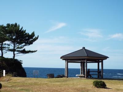 鳥海山の見える日本海