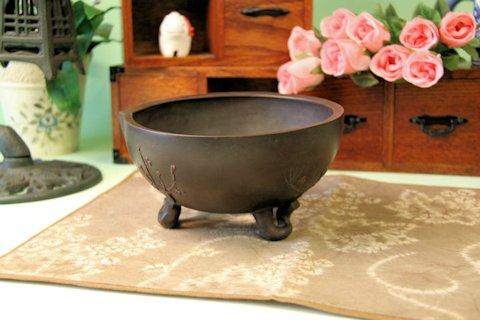 盆栽鉢 植木鉢 朱泥の素焼き