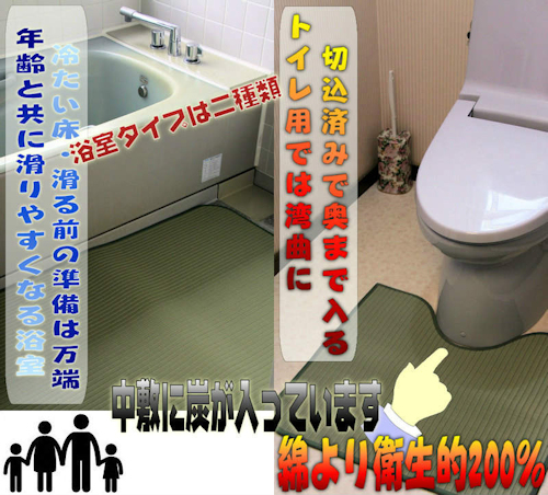 浴室での転倒を防ぐ 滑りづらいマット 業務用