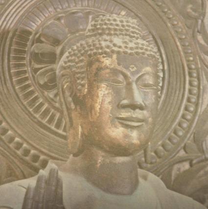 法隆寺金銅釈迦三尊像顔