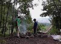 くりの木焚き火