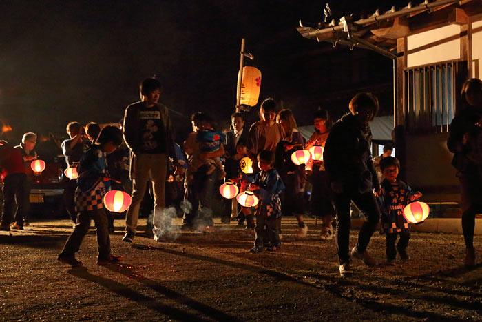 田原菅原神社 火祭り2