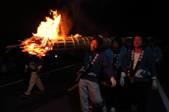 田原菅原神社 火祭り3