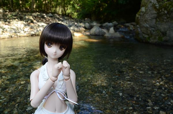 小隠里@ルルナと渓流で