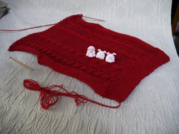 赤いセーター後ろ身頃201611