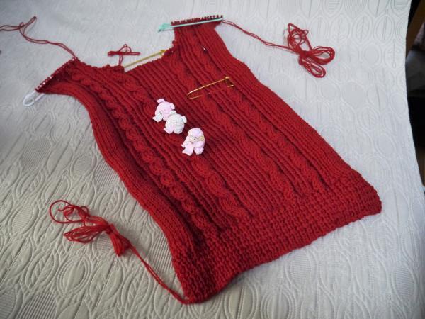 赤いセーター前身頃201611