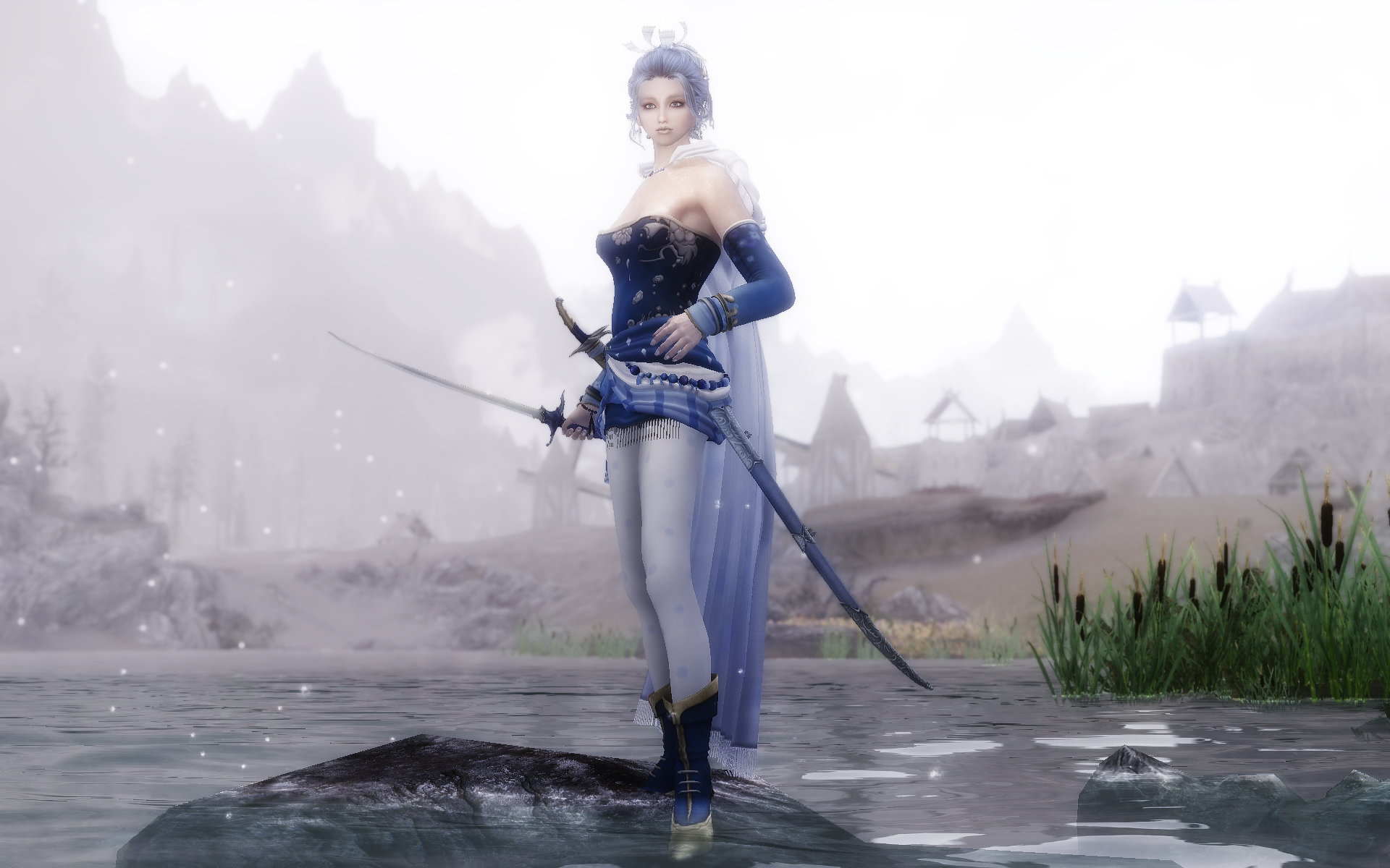 FF6 Tina(Terra) Outfit Blue Style