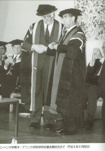 ロンドン大学研究学院名誉会員就任式