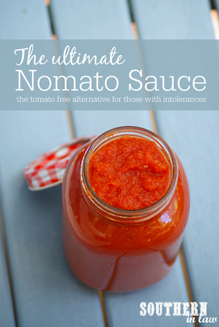 The Best Nomato Sauce Recipe - tomato free, nightshade free, tomato intolerance, nightshade intolerance, gluten free, vegan, egg free, dairy free, nut free, allergy friendly recipes
