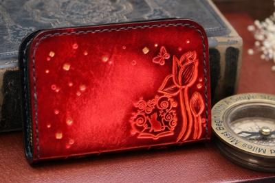 蓮とネコのコインケース