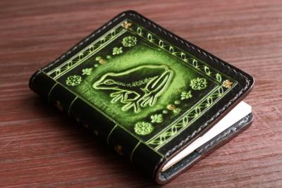 カエルのメモ帳カバー