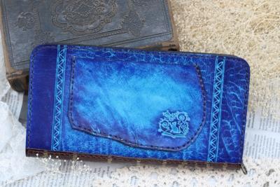 クラゲの洋古書風長財布
