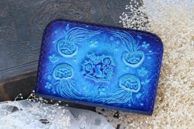 クラゲの洋古書風コインケース