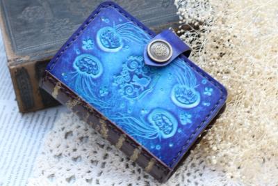 クラゲの洋古書風カードケース