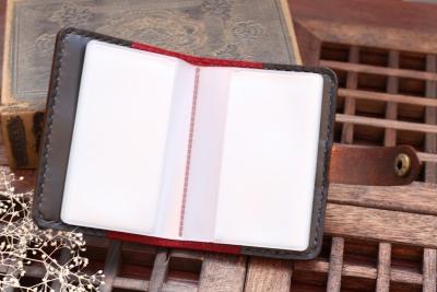 彼岸花の洋古書風カードケース