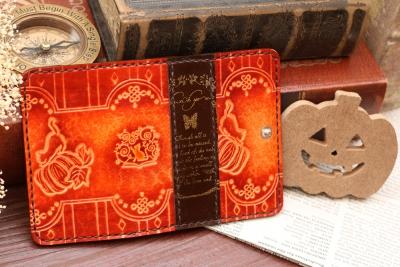 ハロウィンの洋古書風キーケース