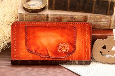 ハロウィンの洋古書風長財布