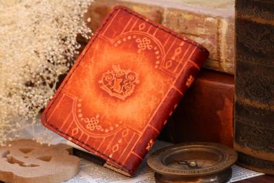 ハロウィンの洋古書風メモ帳カバー