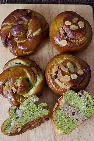 お抹茶の菓子パン1