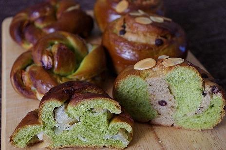 お抹茶の菓子パン2